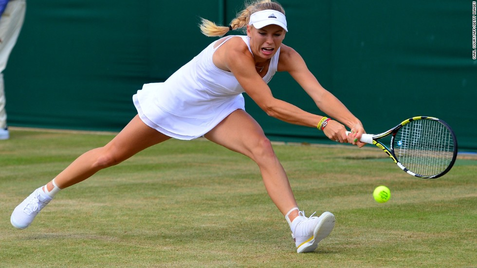 Caroline Wozniacki (pictured) was knocked out on Monday, beaten 6-2 7-5 by the Czech Republic's Barbora Zahlova Strycova. Victory propels the world No. 43 into her first ever grand slam quarterfinal.