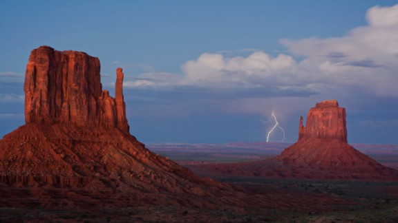 Monument Valley on the Arizona-Utah border is known for its sandstone formations and vast desert views. Toby Dingle captured this lightning strike in September 2013. Click to see some amazing lightning photos from the past few years.