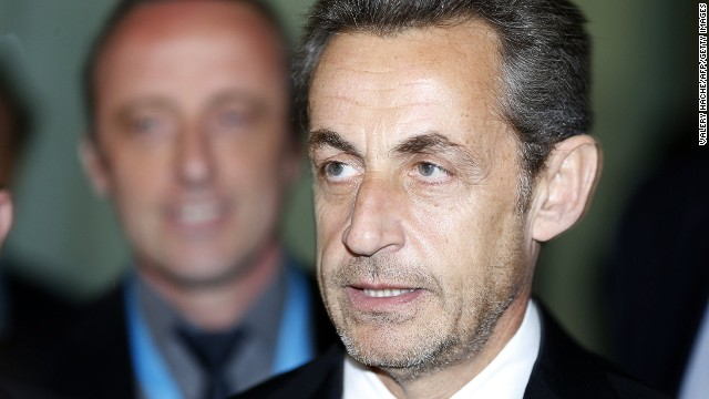 Former French president Nicolas Sarkozy on March 10, 2014 in Nice, southeastern France.
