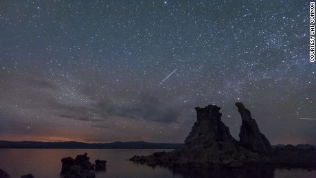 Here's an example: California-based iReporter Cat Connor photographed the Camelopardalids meteor shower over Mono Lake in Lake, Lee Vining, California, in the early morning hours of May 24.
