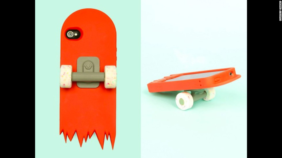 "Designed for fun rather than functionality, this <a href=""http://www.openingceremony.us/products.asp?menuid=2&designerid=1329&productid=53751"" target=""_blank"">skate deck</a> iPhone case by Candies is like having half a tiny skateboard around your phone. The wheels work, but probably aren't convenient when talking on your phone."