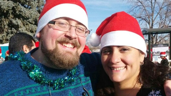 """In December 2012, the couple ran the local 5-kilometer """"Ugly Sweater Run."""" Jess finished ahead of Rob, and he vowed to improve his time."""