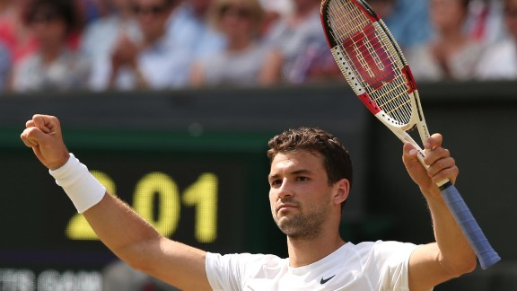 Dimitrov held his nerve to win the final set 6-2 and reach the first grand slam semifinal of his career.