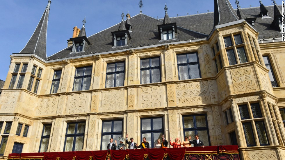 With GDP of $111,162 per capita, Luxembourg is the undisputed winner of the World Bank's wealthiest territories ranking. Pictured here is the country's royal family, waving from the balcony of the Grand-Ducal palace in Luxembourg.