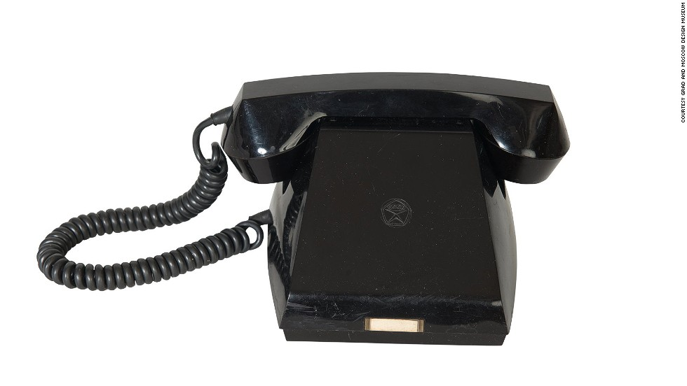 "<strong>""Vertushka"" Dial-less Telephone</strong><br /><br />This telephone is dial-less because there was only one number a Soviet caller using it could ring: The Kremlin. It would only have been found in the offices of high ranking military officials or big factory owners. When the caller reached the Kremlin, they would have automatically been directed to the person they wanted to talk to.<br /> <br />""So if you had one, in a way you were very proud of it, but also it meant you had to up your game,"" said Chiriac."