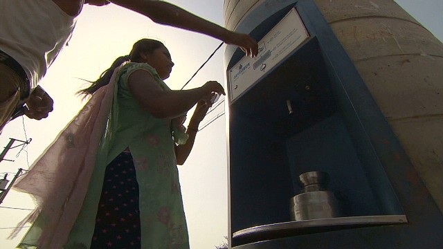 Dispensing water to India's poor via ATM