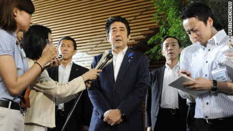 Japanese Prime Minister Shinzo Abe will arrive in Washington Monday for a state visit.