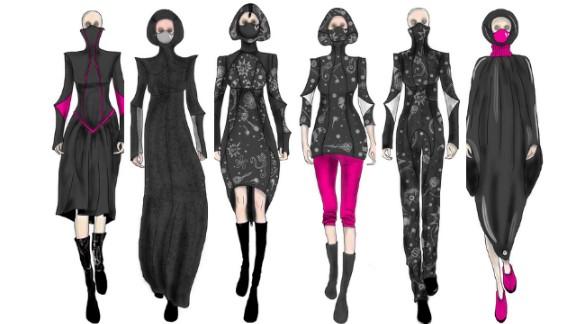 Face slap designs clothes incorporating face masks