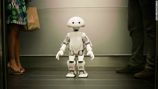 This 3-D printed robot talks