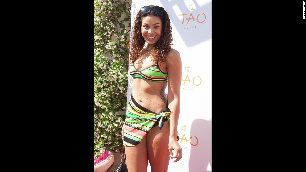 Jordin Sparks was ready for poolside fun at the opening party for Tao Beach in April 2014.
