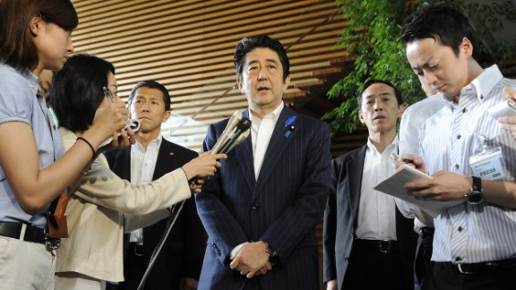 Japanese Prime Minister Shinzo Abe lays out his goals for the upcoming G7 summit.