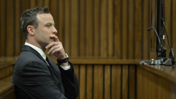 Oscar Pistorius in the Pretoria High Court on July 3, 2014, in Pretoria, South Africa.