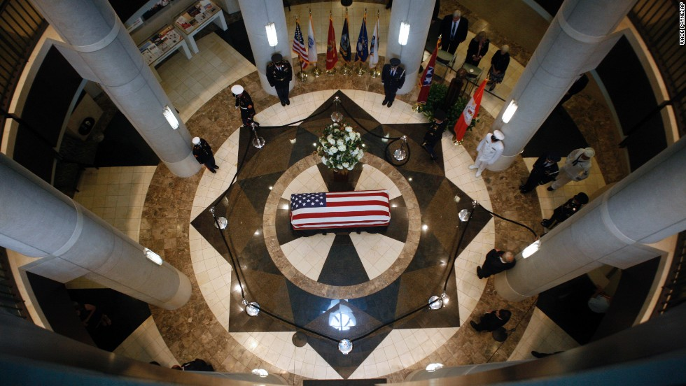 "The body of former U.S. Sen. Howard Baker lies in state Monday, June 30, in Knoxville, Tennessee. Baker died June 26 at the age of 88. The Tennessee Republican <a href=""http://www.cnn.com/2014/06/26/politics/howard-baker-died/index.html"">made his political mark</a> over four decades, serving as majority leader and once running for president."