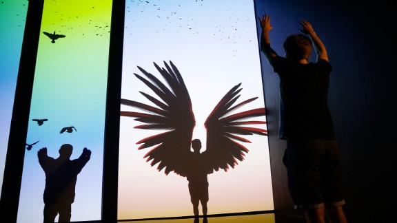 Participants take flight on virtual wings in immersive installation