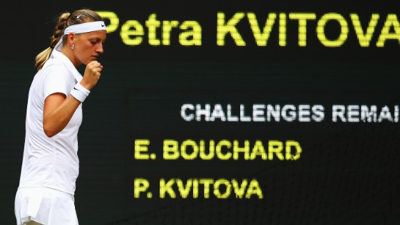 The Czech quickly advanced to close out the set 6-3 and take a big step towards regaining the Venus Rosewater Dish.