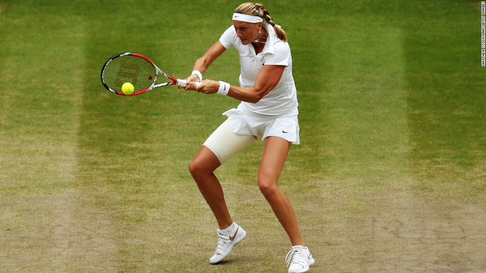 Kvitova made her superiority tell by breaking in the fourth game of the first set to take a 3-1 lead.