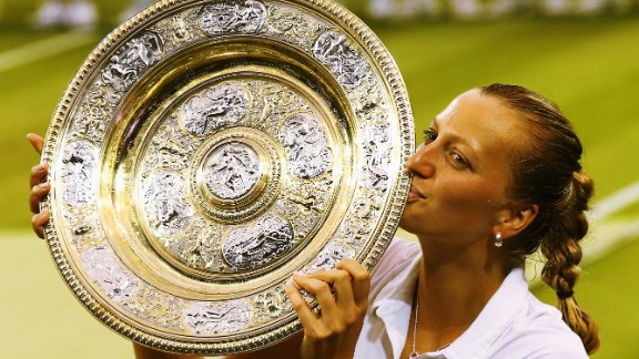 """""""I had great tactics from my coach and I just wanted to (win again),"""" Kvitova told the crowd, just before she was presented with her prize."""