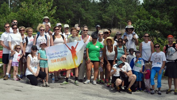 Katherine Stone and her fellow participants after their climb in Atlanta in June.