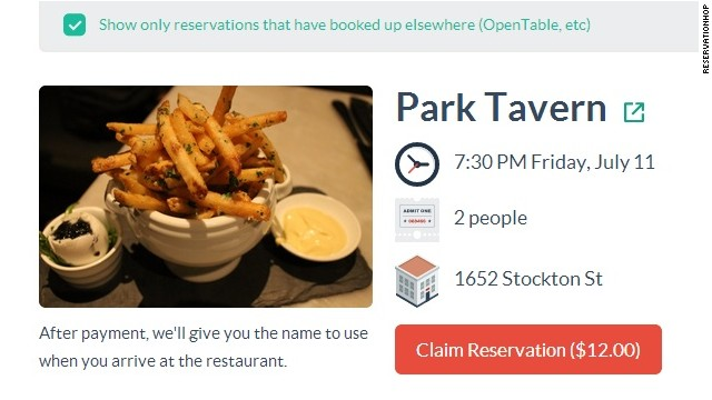 ReservationHop startup sells restaurant reservations - CNN