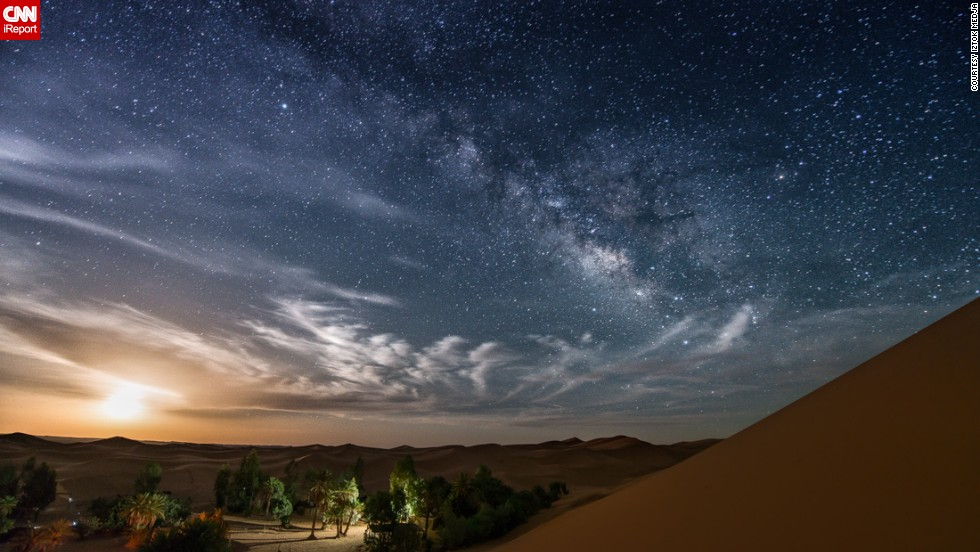 "This breathtaking moonrise over the Sahara was taken by Slovenia-based photographer<a href=""http://ireport.cnn.com/docs/DOC-1150114"" target=""_blank""> Iztok Medja</a>, while in Morocco. In a former job as a nautical skipper, he would spend many night shifts gazing longingly at the sky. He says that it was while he was away from the light pollution of the city that his passion for night photography emerged."