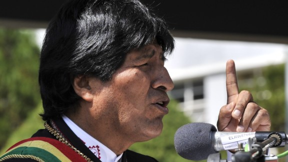 Bolivian President Evo Morales, seen here in April, declared victory in Sunday