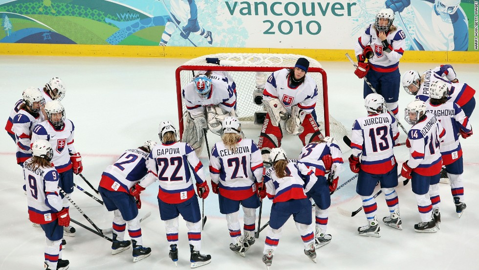 <strong>Olympic hockey qualifying:</strong> At an Olympics qualifying event in 2008, Slovakia's women's hockey team, seen here in 2010, thrashed Bulgaria 82-0. That's a goal every 44 seconds. The Slovakians took 139 shots to Bulgaria's zero, and they scored on 59% of their shots, ESPN reported. When they got to the Olympics, however, they ran into a buzzsaw known as Canada, losing 18-0.