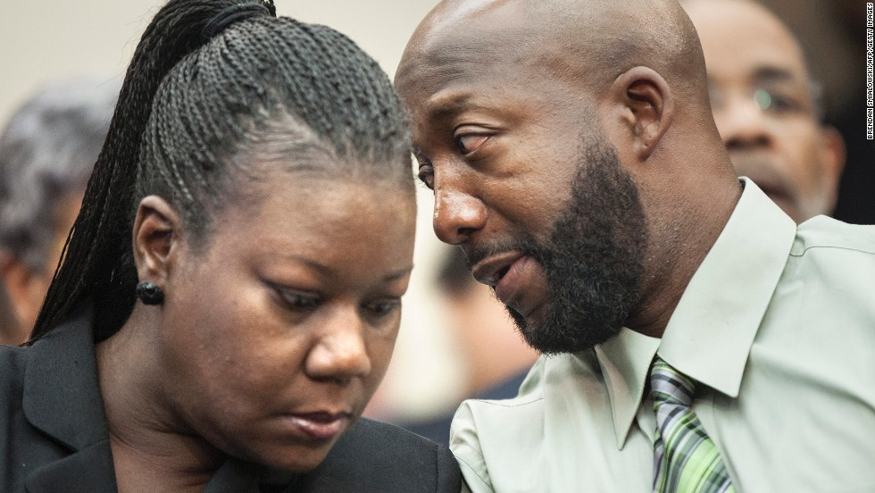 "Sybrina Fulton and Tracy Martin, Trayvon Martin's parents, have been actively engaged in working to change ""stand your ground"" laws. They also have been speaking to groups and conventions around the country about ethnic profiling and prevention of violent crimes. They established a foundation in their son's name, which provides stipends to families who have lost children to gun violence."