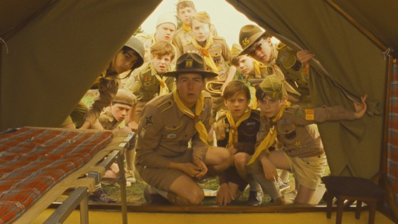 """Scouts from a local camp are enlisted to find two young lovers who have run away in the film """"Moonrise Kingdom,"""" starring Edward Norton, center. From scouting camp to arts camp, there are a ton of summer sleepaway options for kids."""