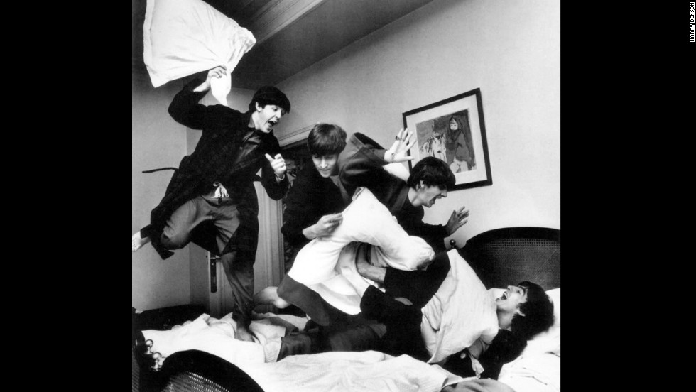 The Beatles Have A Pillow Fight At Hotel In Paris 1964 Harry Benson