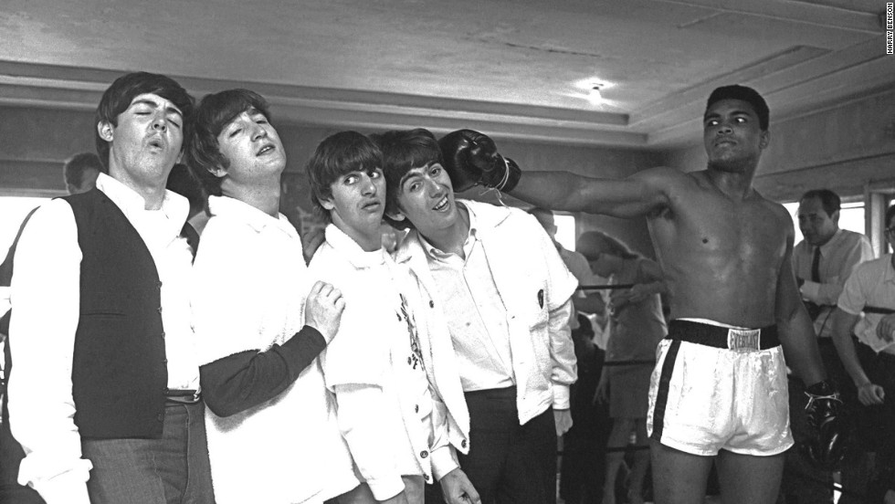 While In Miami The Beatles Meet Cassius Clay Boxing Champion Who Later Became