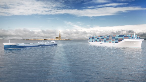 At first glance, these might appear to be two unremarkable cargo vessels. With one remarkable exception...