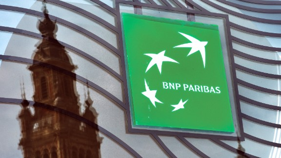 A photo taken on June 24, 2014 in Lille, northern France shows the logo of the French bank BNP Paribas. AFP PHOTO / PHILIPPE HUGUEN (Photo credit should read PHILIPPE HUGUEN/AFP/Getty Images)