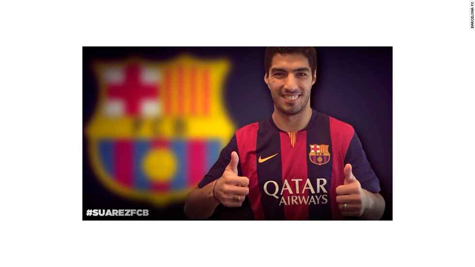 Suarez moved to the Catalan giants in the summer of 2014, and has since produced some of the finest football of his career alongside teammates Lionel Messi and Neymar.
