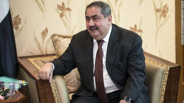 Hoshyar Zebari is shown in Baghdad on June 23. A Prime Minister's adviser will be interim foreign minister, officials say.