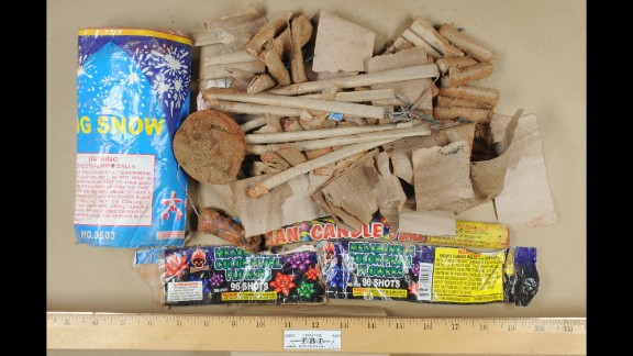 Fireworks, some of them hollowed out of gunpowder, were found inside the backpack taken from Tsarnaev's dorm room.