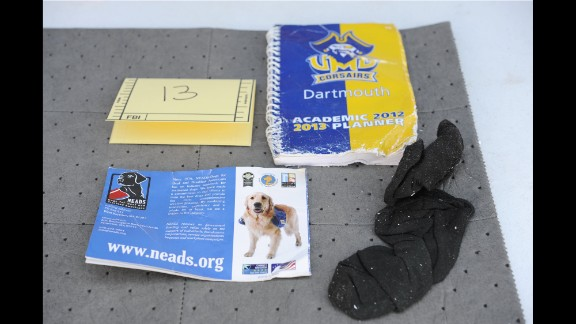 A UMass-Dartmouth academic planner was also among the contents of the backpack.