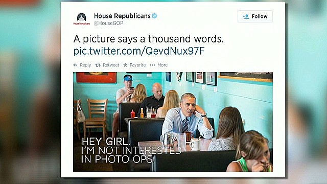 House Republicans mock the President