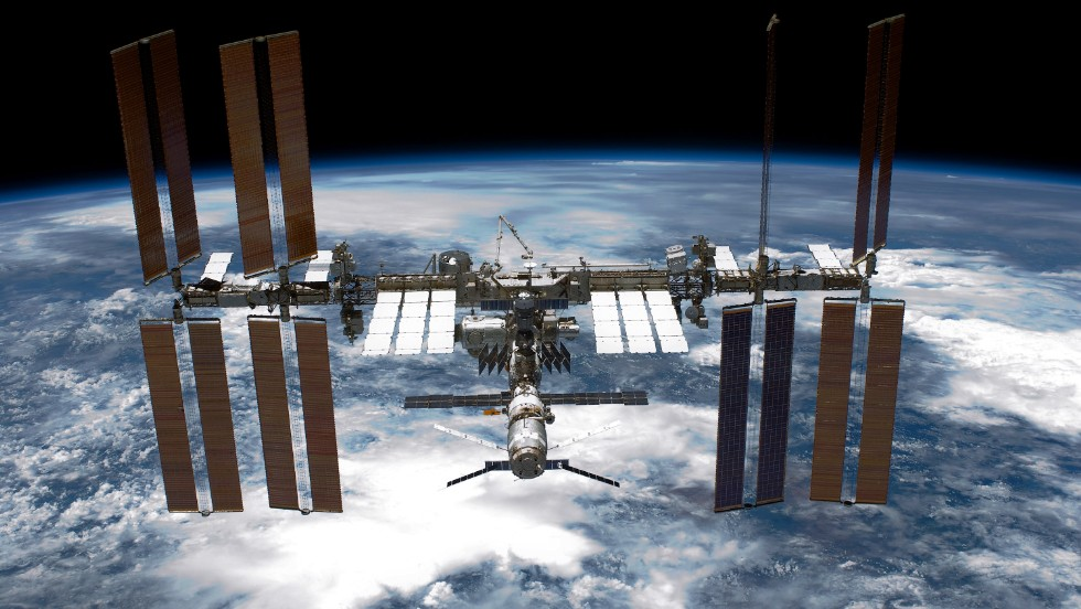 The International Space Station was launched in 1998 and it currently orbits Earth at an altitude of about 400 kilometers.