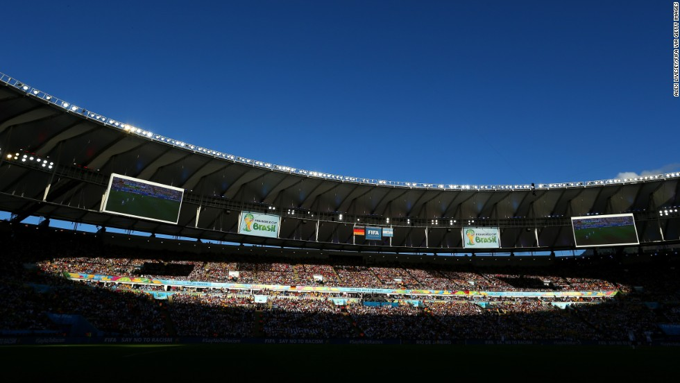 A wide view of the Maracana Stadium.
