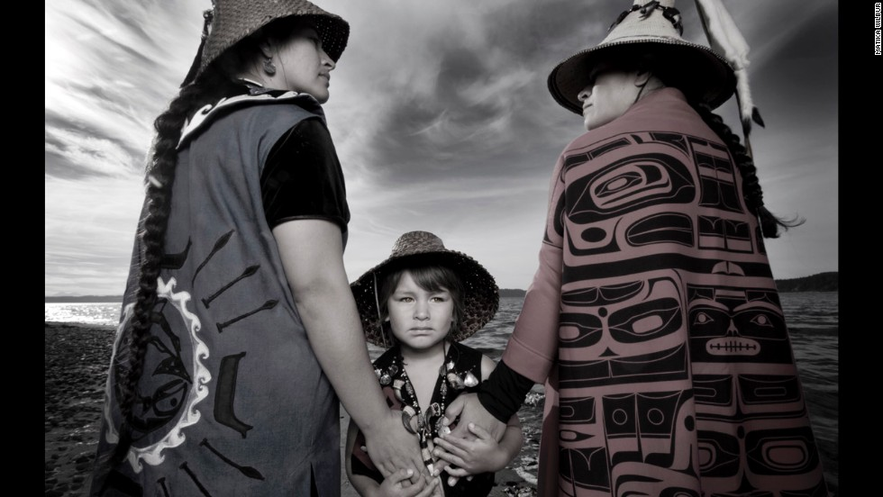 Photographer Matika Wilbur's Project 562 photo series aims to capture people from all of the more than 562 federally recognized Native American tribes in the United States. Take a look at a selection of portraits from Project 562, a few of which are on display at the Tacoma Art Museum through October. In this photo: Darkfeather, Bibiana and Eckos Ancheta from the Tulalip Tribe.
