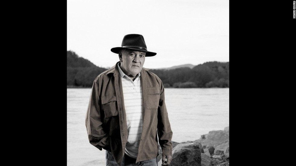 Raymond Mattz belongs to the Yurok Tribe in Northern California, and this photograph was taken at the mouth of the Columbia River.