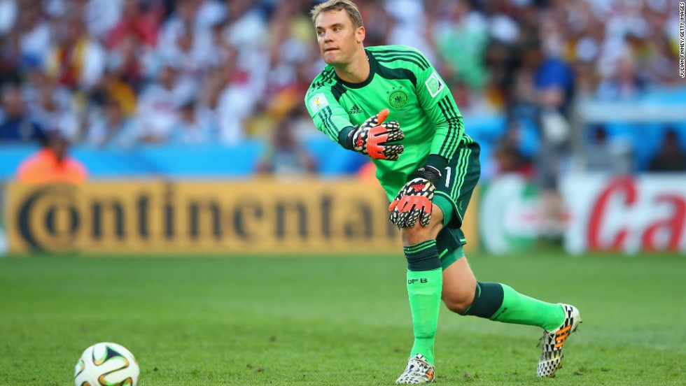 Manuel Neuer is rated as one of the top goalkeepers in world football and was a key part of the Germany team which won the 2014 World Cup. Neuer's sweeper-keeper style means he spends much of the game outside of his penalty area.