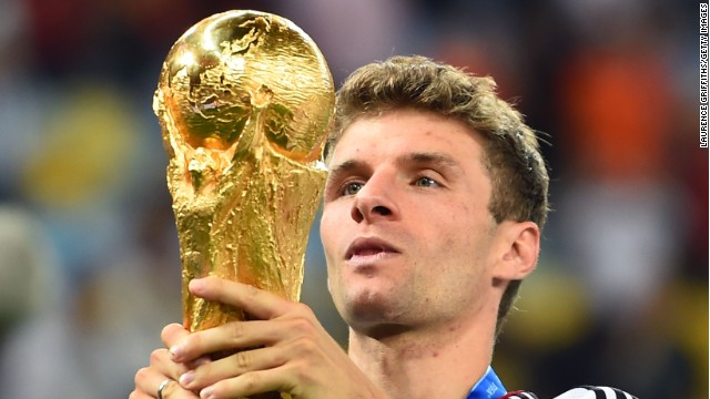 Among the 23-man squads participating at the Russia 2018, only the Argentinan contingent (12) has more World cup goals than Thomas Müller (10).