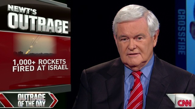Crossfire Gingrich outraged Israel under attack_00002004.jpg