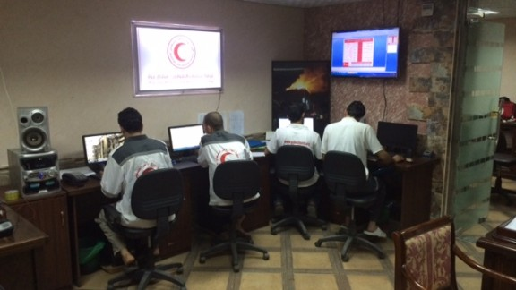 The ambulance control center in central Gaza.