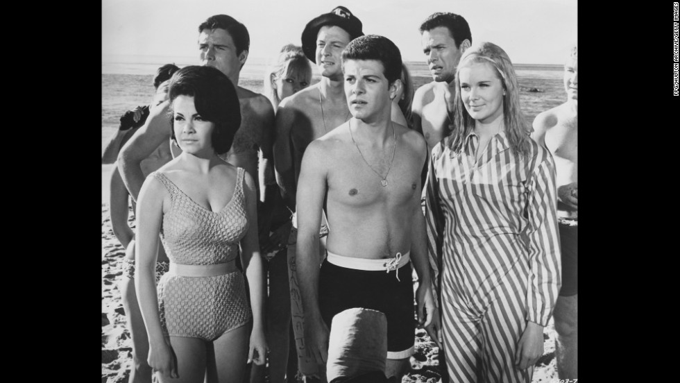 """America's Sweetheart"" Annette Funicello's curve-hugging suit turned heads in 1965's ""Beach Blanket Bingo."""