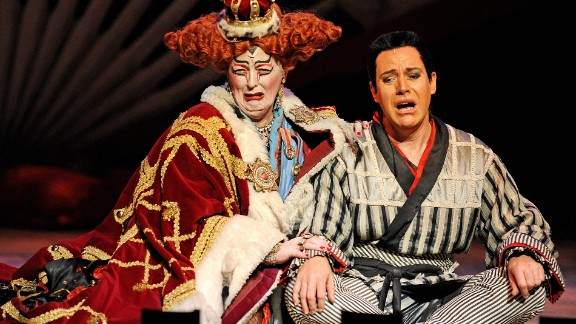"""An opera production of """"The Mikado."""""""
