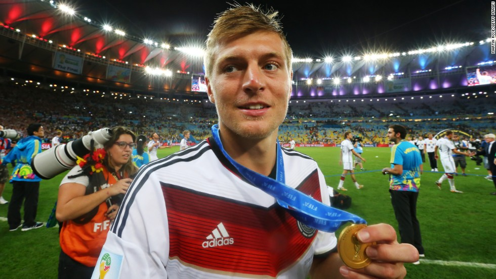 Toni Kroos officially became a Real Madrid player Thursday after completing his transfer from Bayern Munich. The midfielder was an integral part of Germany's World Cup-winning team. There was more good news for Real as Forbes magazine ranked it as the most valuable sports team in the world.