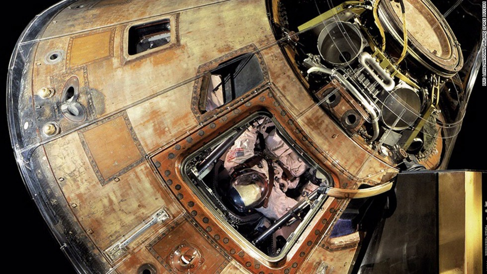 The Apollo 11 Command Module Columbia Carried Astronauts Neal Armstrong Buzz Aldrin And Michael Collins