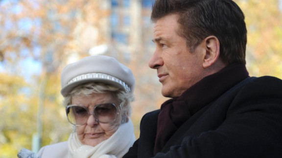 """Stritch played ornery Colleen Donaghy, the mother of Alec Baldwin's Jack Donaghy on """"30 Rock."""" This photo is from the episode """"My Whole Life is Thunder,"""" in which Colleen dies. """"One of these days, you're going to turn around and I'm going to be gone, Jack,"""" she said. """"Just like that."""" Stritch was nominated for outstanding guest actress in a comedy series for her role on """"30 Rock."""" She won in 2007."""